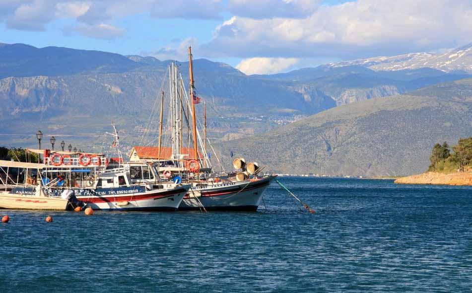 Bateaux du port de Galaxidi en Grèce
