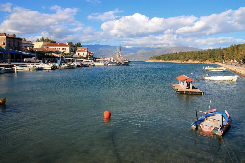 Port de Galaxidi en Grèce