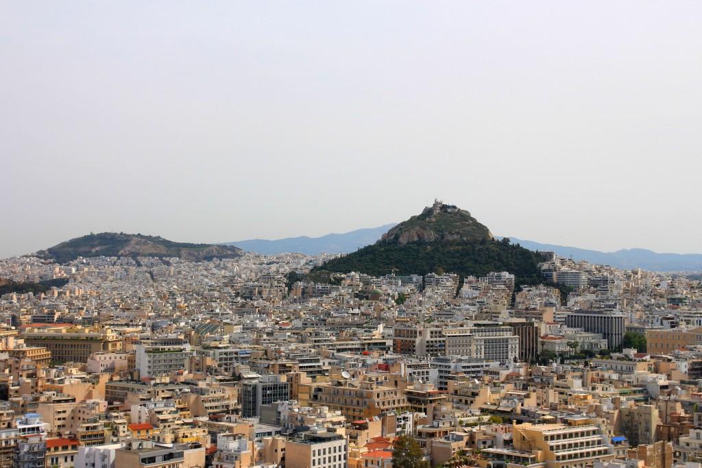 Vue d'Athènes depuis l'Acropole