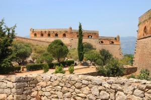 Intérieur de la forteresse de Palamède à Nauplie