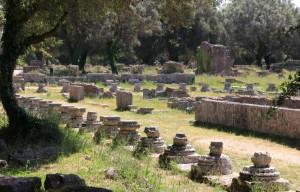 Le Léonidaion à Olympie en Grèce