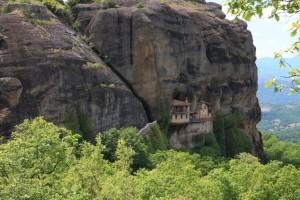 Vue du monastère d'Ipapandis Météores Grèce