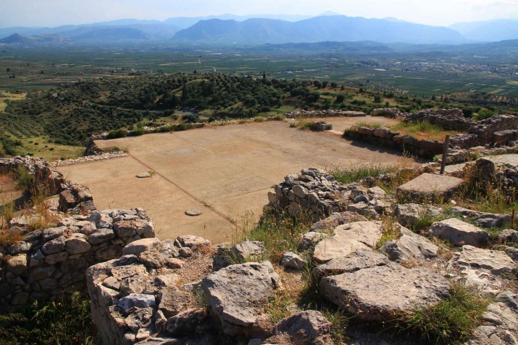 Palais royal à Mycènes