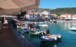 Port de Naupacte en Grèce