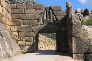 Porte des lionnes à Mycènes