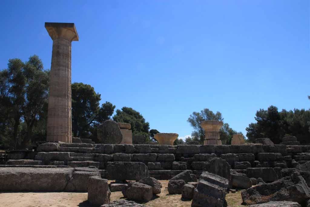 Le Temple de Zeus à Olympie en Grèce