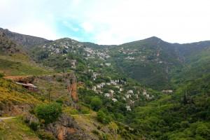 Vue sur Milies dans le Pélion en Grèce