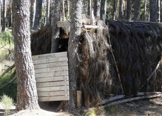 Cabane pour pèlerins sur le chemin de compostelle
