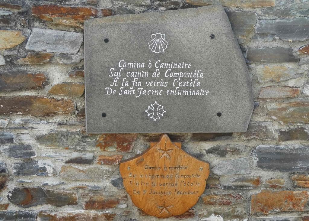 Inscription sur le Chemin de Compostelle