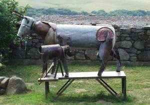 Sculptures du village d'Aubrac