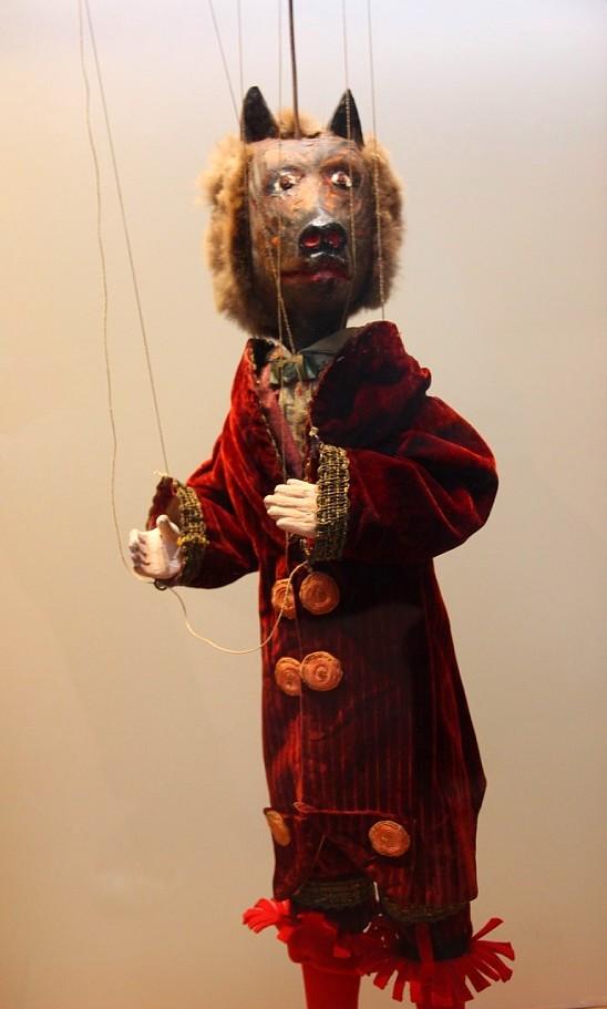 Loup marionnette musée gadagne