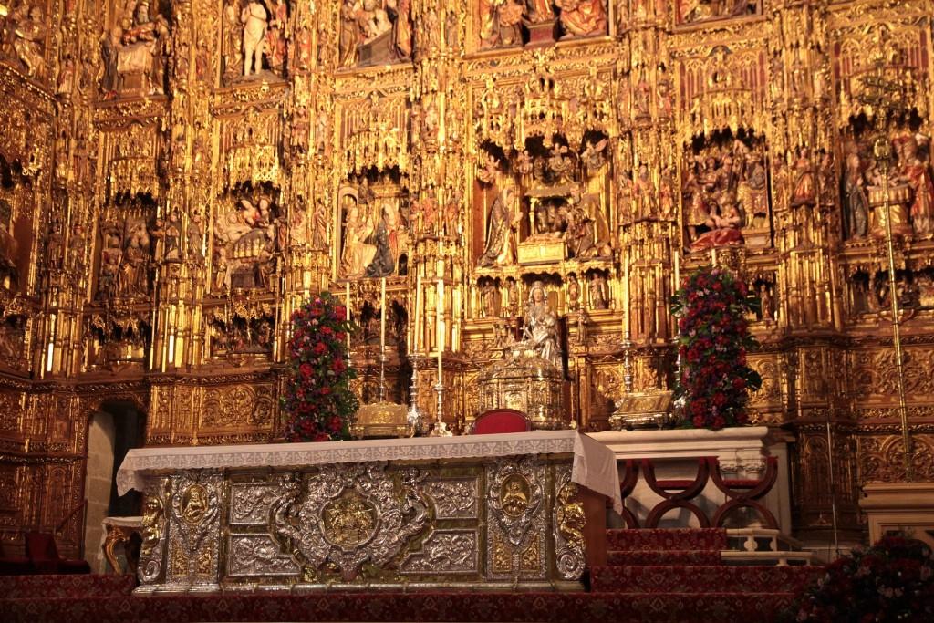 Autel gothique de la cathédrale de Séville