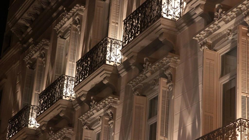 Façades de la rue Larios à Malaga