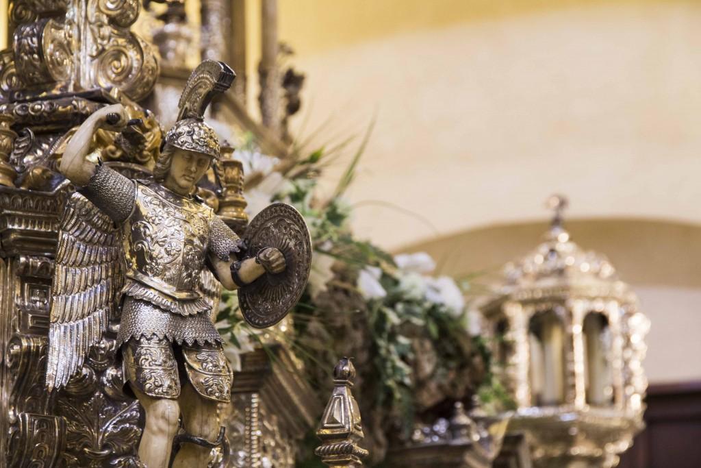 Retable de l'église del divino salvador à Séville
