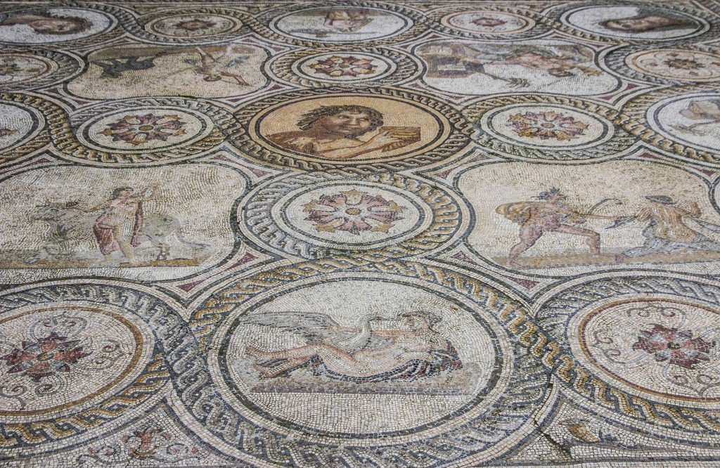 Mosaïques du palacio de la contesa lebrija à Séville