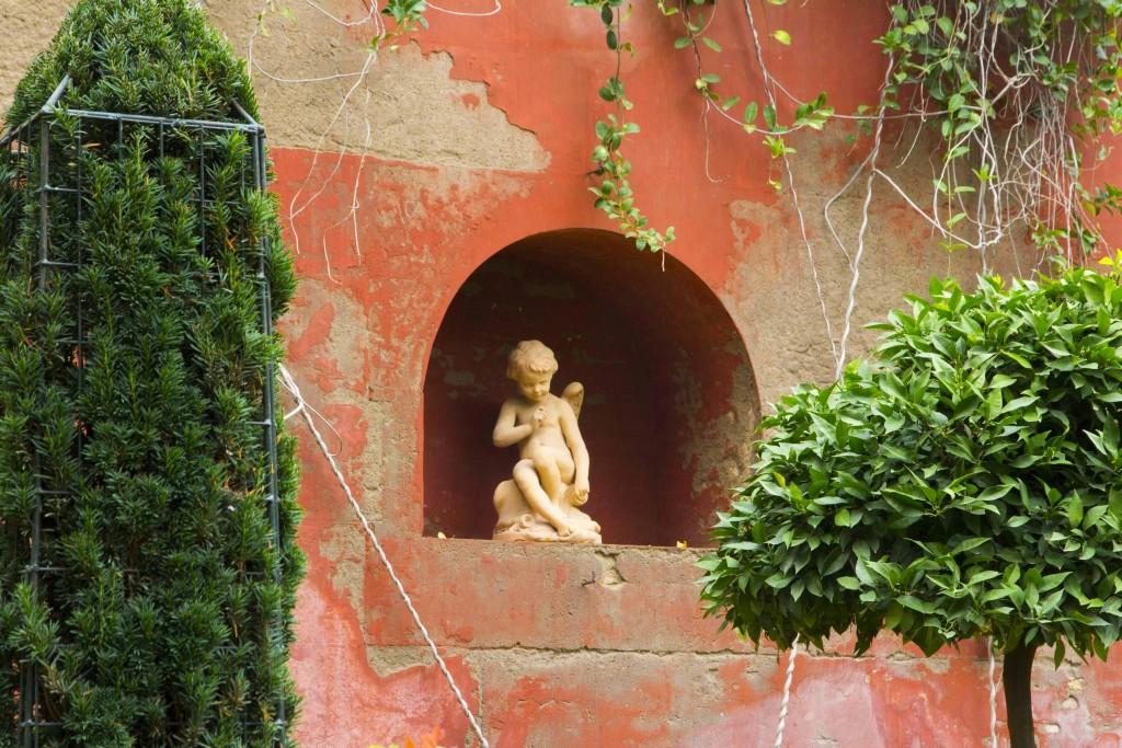 Statue dans le jardin de la casa de pilatos