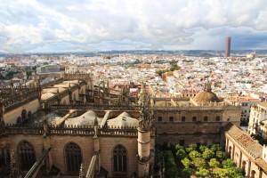 Vue de Séville du haut de la Giralda