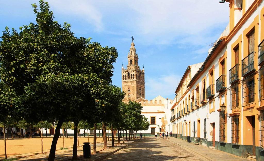 Giralda place de la Juderia à Séville