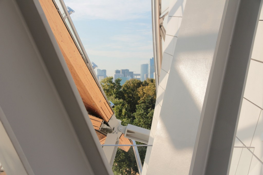 Vue de la Fondation Louis Vuitton