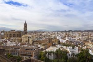 Vue sur Malaga de l'Alcazaba