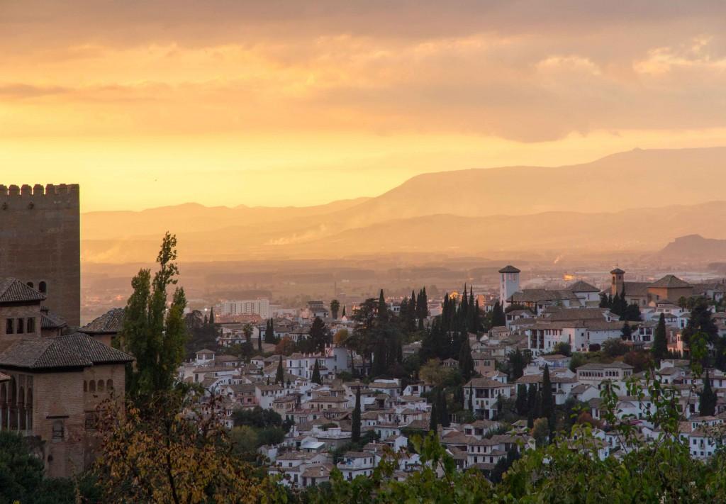 Coucher de soleil de l'Alhambra