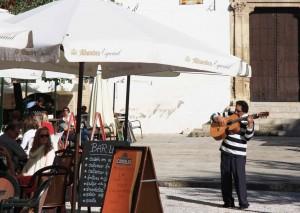 Guitariste place San Miguel Bajo à Grenade