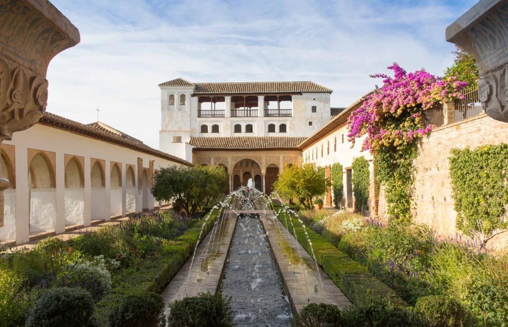Jardins du Generalife de l'Alhambra à Grenade