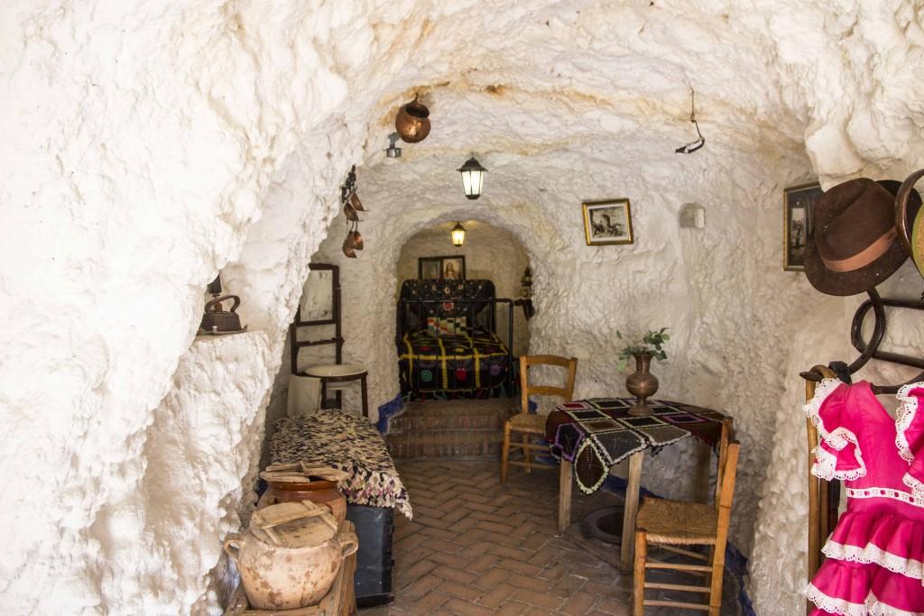 Maisons trogolodytes (cuevas) du Sacromonte à Grenade