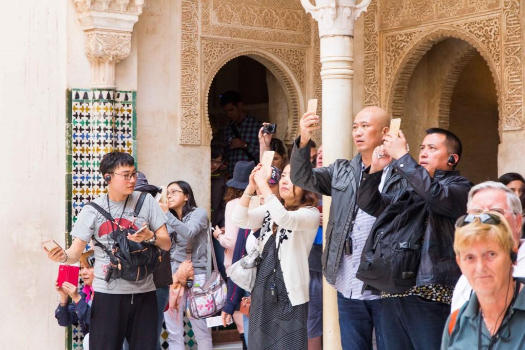 Visiteurs Alhambra Grenade
