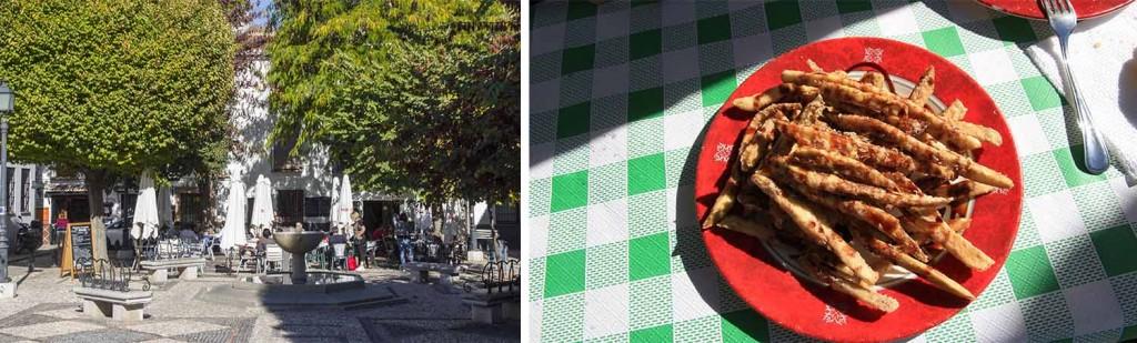 Aubergines frites au miel place del Aliatar