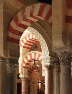 Transition des arches de la mosquée-cathédrale de Cordoue