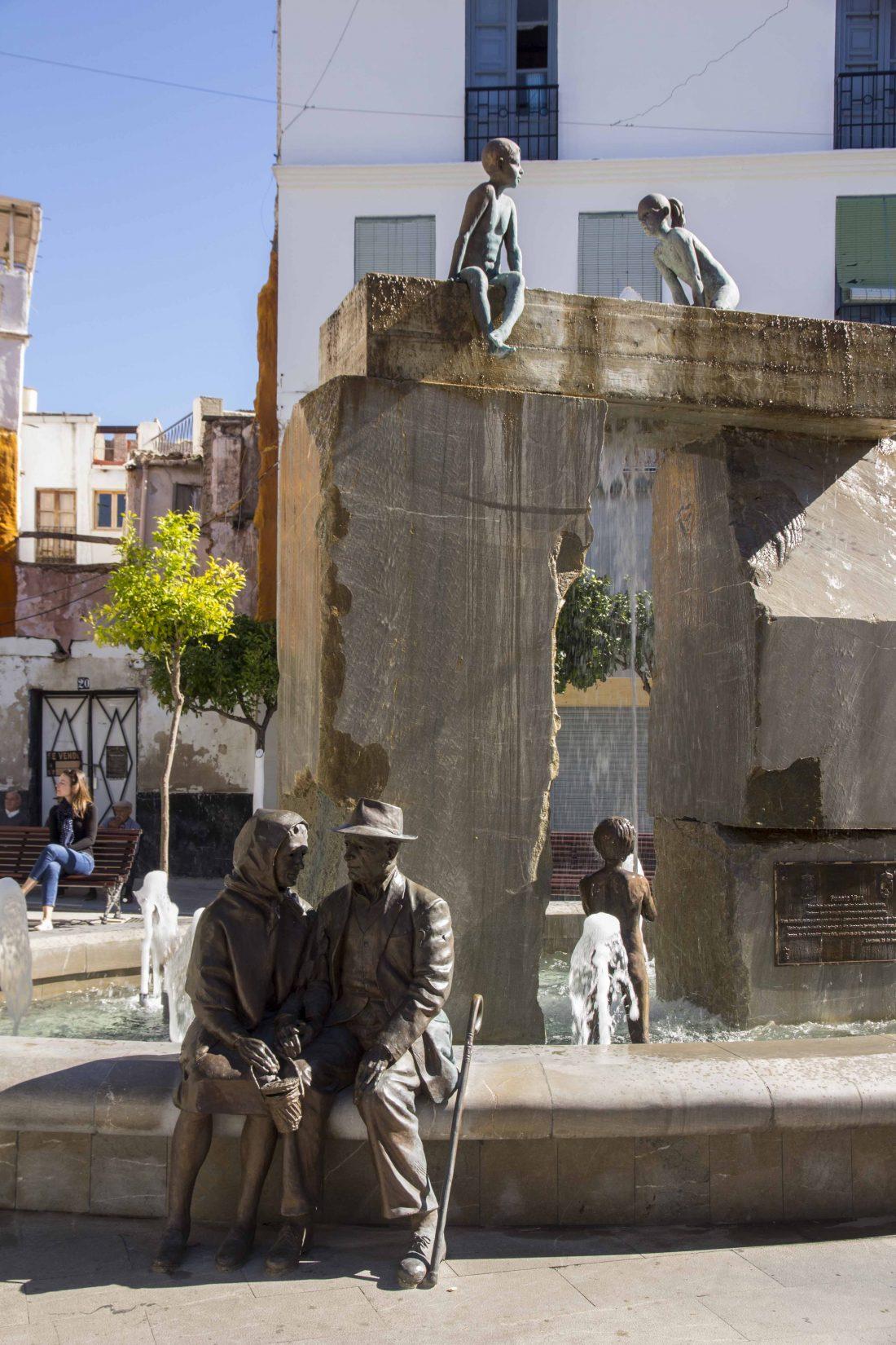 Sculptures de la fontaine de Lanjaron