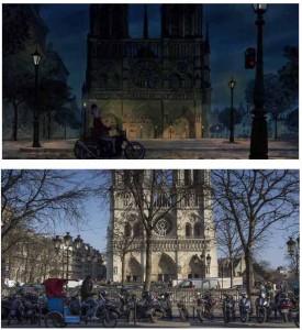 Cinemacity, les aristochats sur le parvis de Notre-Dame