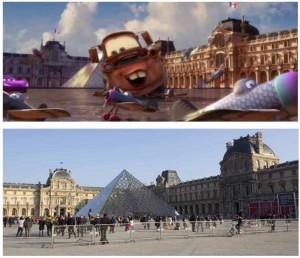 Cinemacity, Cars 2 devant la pyramide du Louvre