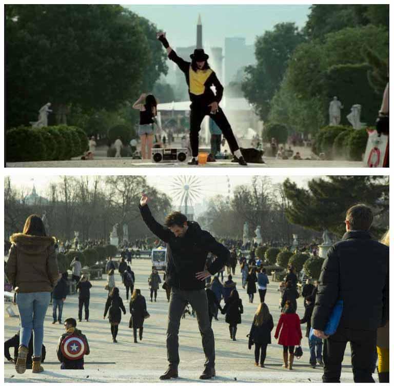 Cinemacity, Mister Lonely dans le jardin des Tuileries