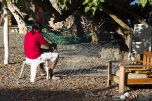 pêcheur sur la randonnée Trou Cochon