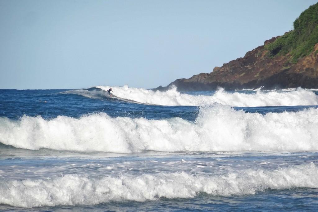 Plage de surf Anse l'étang en Martinique