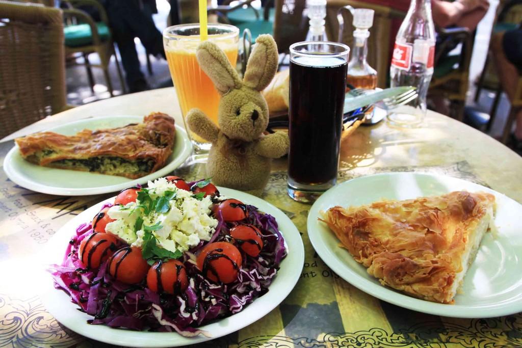 Un repas en Grèce